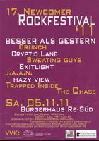 17. Newcomer-Rockfestival 2011: Samstag, den 5.11.2011 im Bürgerhaus Süd