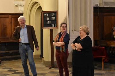Maria Bonafeda, (Pfr.in der Waldenser - Gemeinde in Turin), Sophie Langeneck (Vikarin) ,  Heiner Bludau, Pfr der Ev. Luth. Kirche in Italien (v. r. n. l)