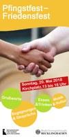 """Einladung zum Pfingstfest  - Friedensfest """"RE ist bunt"""" am Pfingstsonntag ab 13 Uhr auf dem Kirchplatz St. Peter"""