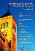 """Lobgesang"" von Felix Mendelssohn Bartholdy in der Christuskirche am Samstag, 27. Januar um 19:30 Uhr"
